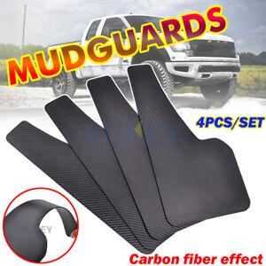 Set of 4 Universal Molded Carbon Mudguards Mud Flaps Splash Guards Mudflaps Suv