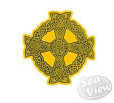 Cornish Kernow Cornwall Celt Celtic Cross Yellow Car Van Stickers Decal Sticker