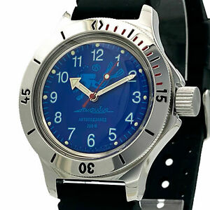 RUSSIAN Vostok Amphibia 120656 AUTOMATIC Diver MEN WRIST WATCH NEW
