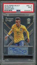 Neymar Jr Brazil 2015 Panini Select Signatures Soccer Auto Card #SS-N PSA 9 /125