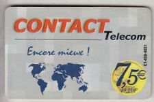 DOM-TOM  TELECARTE / PHONECARD  .. ILE GUADELOUPE 7€50 CONTACT + MAP CT-458+N°