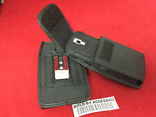 NYLON BELT CLIP POUCH CASE HOLSTER FOR SAMSUNG GALAXY NOTE 4 EXTENDED BATTERY
