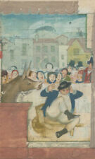 More details for 20th century watercolour - scene with donkey and figures