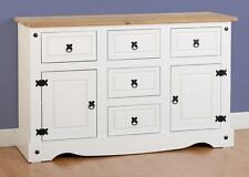 CORONA 2 Door 5 Drawer Sideboard in Distressed Wax Pine - Next Day Delivery