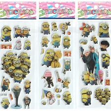 10 sheets Minions Despicable Me stickers party favours bag fillers