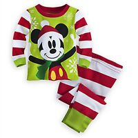 Disney Store Mickey Mouse Holiday PJ Pals Baby Sleeper Pajamas Christmas Outfit