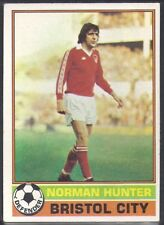 -#255- BRISTOL CITY TOPPS-FOOTBALL ORANGE BACK 1978 NORMAN HUNTER