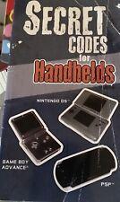 LOT of 6 Secret Codes for Consoles,Handhelds Nintendo DS, Game Boy Advance, PSP