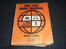 1981 Ford Escort Mercury Lynx Body Chassis Ford Manual
