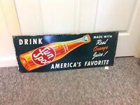 Sun Spot Sunspot Orange Soda Drink Beverages Metal Advertising Sign 939-W