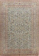 Vintage GREEN Floral Ardakan Area Rug Wool Hand-Knotted Oriental Carpet 8'x12'