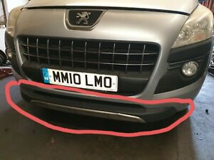 Peugeot 3008 Front Bumper Bottom Lip Grill Chrome 2010-2016