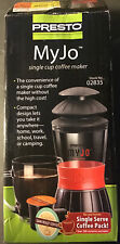 Presto MyJo Single Cup Coffee Maker 02835