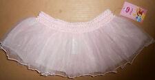 Disney Capezio DP7060C Sparkle Tutu Pink Silver smocked waist tulle Sm/Med Child