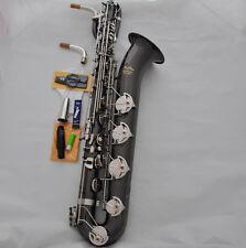 Professional Baritone Saxophone Black Eb Sax Low A Germany mothpiece with case