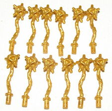 LEGO 12 GOLD SPIKED FLAILS NINJAGO WEAPONS FOR NINJA MINIFIGS GOLDEN PARTS