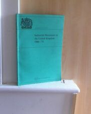 Industrial Movement in the United Kingdom 1966-75; by R J Pounce