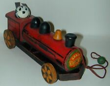 Krazy Kat Express Wood Train Engine Pull Toy J. Chein 1932 George Herriman
