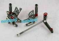 Rearset Rear Set Footpegs for Honda 2008-16 CBR1000RR Grey Adjustable hs