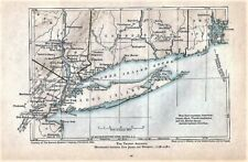 Orig 1778-1781 Revolutionary War Map French Alliance Movement from Nj to Newport