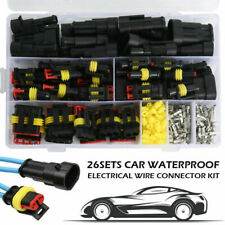 26 Sets Wires Connector Plugs 1/2/3/4 Pin Sealed Kit For Car Vehicle Waterproof