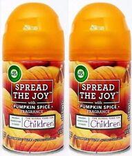 Air Wick Spread the Joy Pumpkin Spice~Automatic SPRAY REFILLS