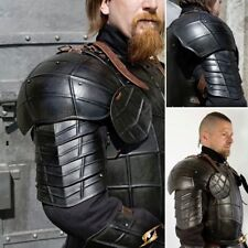 Medieval Dark Drake Pauldrons/Shoulder Black Armor LARP Dark knight Pauldrons