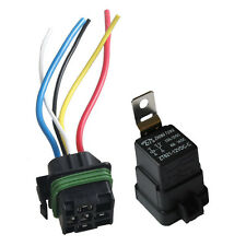 Car 12V 40A SPDT Relay Socket Plug 5Pin 5 Wire Waterproof Seal Iron AB Sales