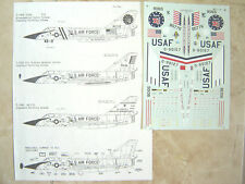 """F-106A/B 2-SEATER DELTA SART  """"5 USAF"""" MICROSCALE DECALS 1/72"""
