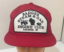 Badger Steam & Gas Engine Hat Wisconsin Snapback Locomotive Tractor Patch