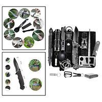 Kit de equipo de supervivencia 15 en 1 Juego de herramientas para acampar al