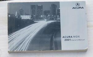 01 2001 Acura MDX Owners Manual OEM ORIGINAL