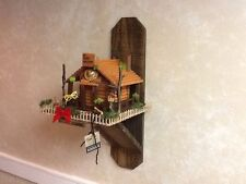 Handmade Shelf Used for Mounting Birdhouse in Or outdoor wood decorative square
