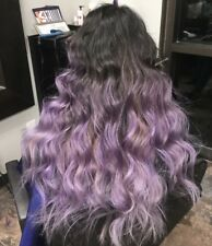 100% Brazilian Virgin Human Hair Wig Lavender Ombre Full Lace Wig Lace Front Wig