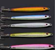 5pcs Lot Laser Jigs Fishing Lures Metal Baits Iron Lead Jig Sea Tackle 10cm/40g