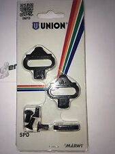 Union Shimano Compatible SPD Pedal Cleat Set for Shoes MTB Mountainbike Pedals