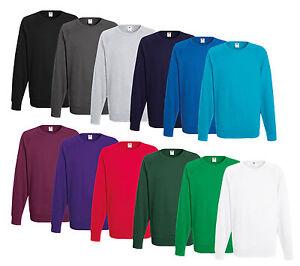 Fruit of the Loom Sweatshirt M L XL XXL Shirts Herren Pullover Shirt Lightweight