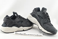 Women's Nike Air Huarache Run PRM - SIZE 6 - NEW - 683818-010 Black Light Bone