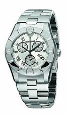 Roberto Cavalli R7253616015 Silver Tone Chrono Sapphire Crystal Mens Swiss Watch