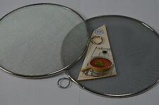 2 X Gasflammsieb Gasherd Sieb Ø: 21 cm verzinnt mit Öse Flammsieb Flammensieb