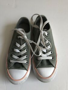 GIRLS CONVERSE 11 TODDLER GRAY PINK LOW CASUAL SNEAKERS LACE SPRING SUMMER