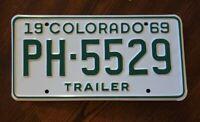 1969 Colorado License Plate #PH-5529 Man cave F3