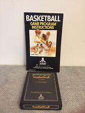 Atari 2600 Basketball Game Cartridge with Instruction Manual