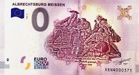 BILLET 0 ZERO EURO SCHEIN SOUVENIR ALBRECHTSBURG MEISSEN FAUTE 2018-2
