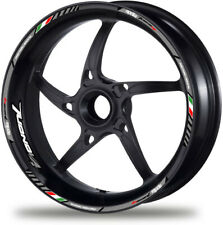 V4 Factory Aprilia Tuono Refclective Motorcycle Wheel Decals Rim Stickers Grey