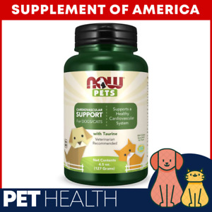 """NOW PETS Cardiovascular Support For Dogs And Cats 4.5 Oz. Powder """"FREE SHIPPING"""""""