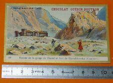 CHROMO GUERIN-BOUTRON 1905-1907 TOUR DU MONDE CAUCASE GORGE DARIEL DJERAKHOVSKY