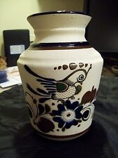 TONALA MEXICAN CERAMIC VASE HAND THROWN AND PAINTED SIGNED C.O. VERY NICE!!!!