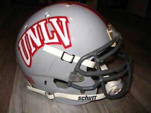 UNLV LAS VEGAS REBELS football helmet- AUTHENTIC game-used