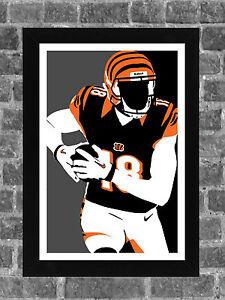 Cincinnati Bengals A.J. Green Portrait Sports Print Art 11x17